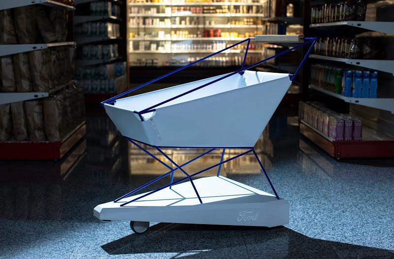 Ford creó un carrito de la compra que frena por sí solo empleando la tecnología anti colisiones de sus coches