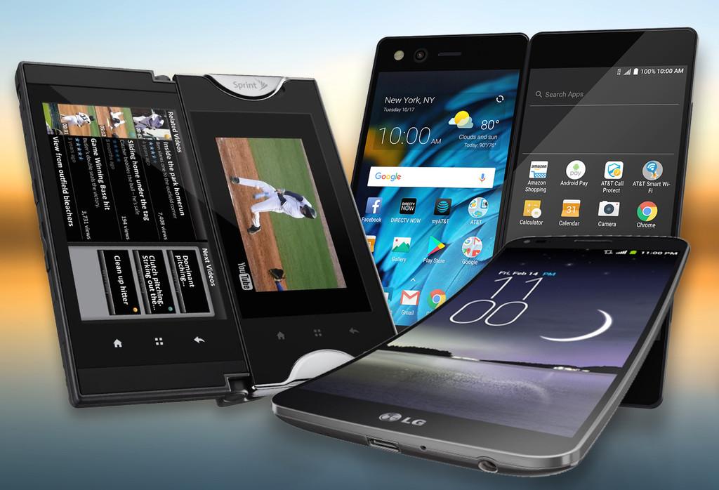 """Permalink to El ZTE Axon M no es el único con una idea """"loca"""": de móviles con bisagras, pantallas curvas y otros diseños curiosos"""