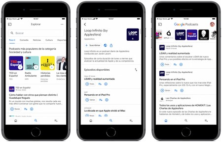 Google Podcasts Ios Interfaz