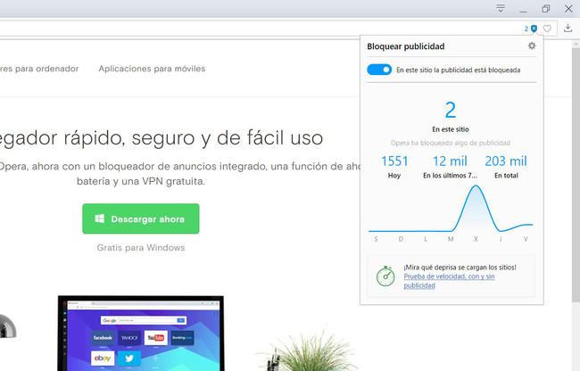 Permalink to Opera asegura que su bloqueador de publicidad mejorado carga las webs un 44 % más rápido que Chrome 64
