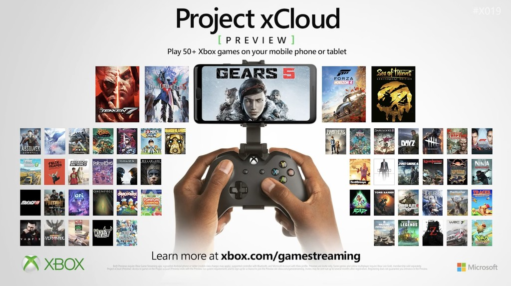 Microsoft sigue avanzando con Project xCloud: 50 nuevos juegos, compatibilidad con mando de PS4 y llegada a Europa en 2020