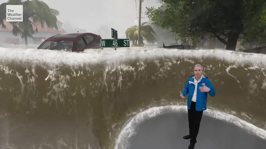 Cómo The Waether Channel utiliza la realidad mixta y Unreal Engine para indicar el poder destructivo de una tormenta