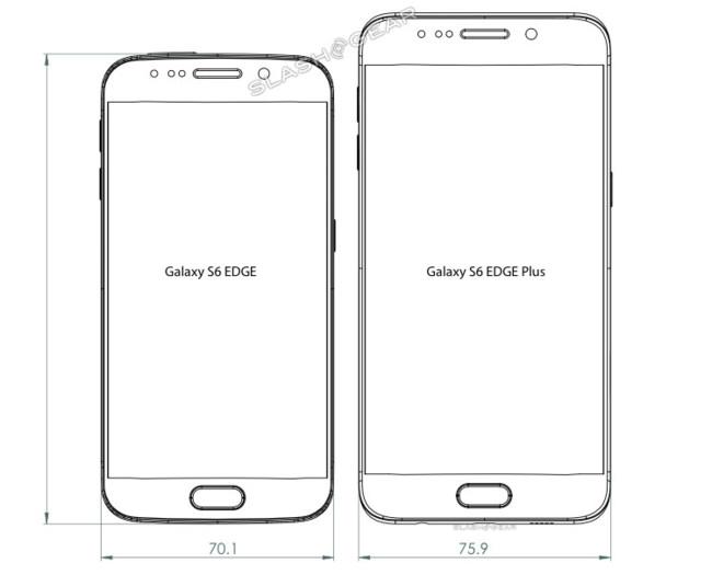 Galaxy S6 Edge Plus Diagrams Front