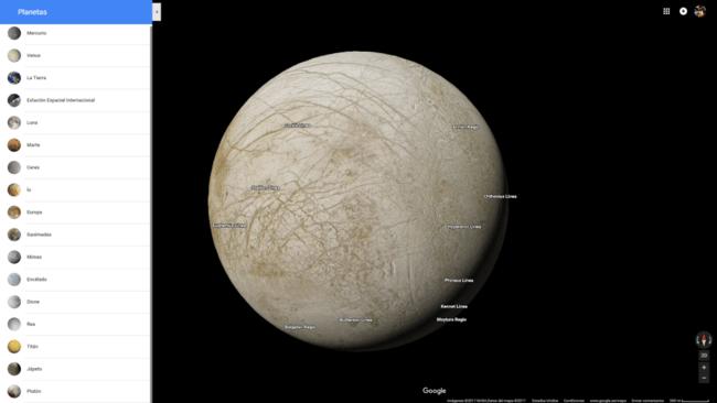 Permalink to Google Maps ahora te permite explorar 17 planetas y lunas del sistema solar