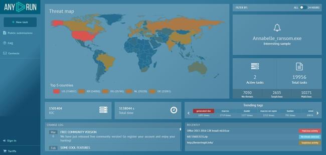 Permalink to Any.Run, la herramienta interactiva de análisis de malware, abierta a todos de forma gratuita