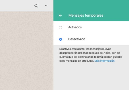 How to send temporary messages on WhatsApp and WhatsApp Web so that they self-destruct after 7 days