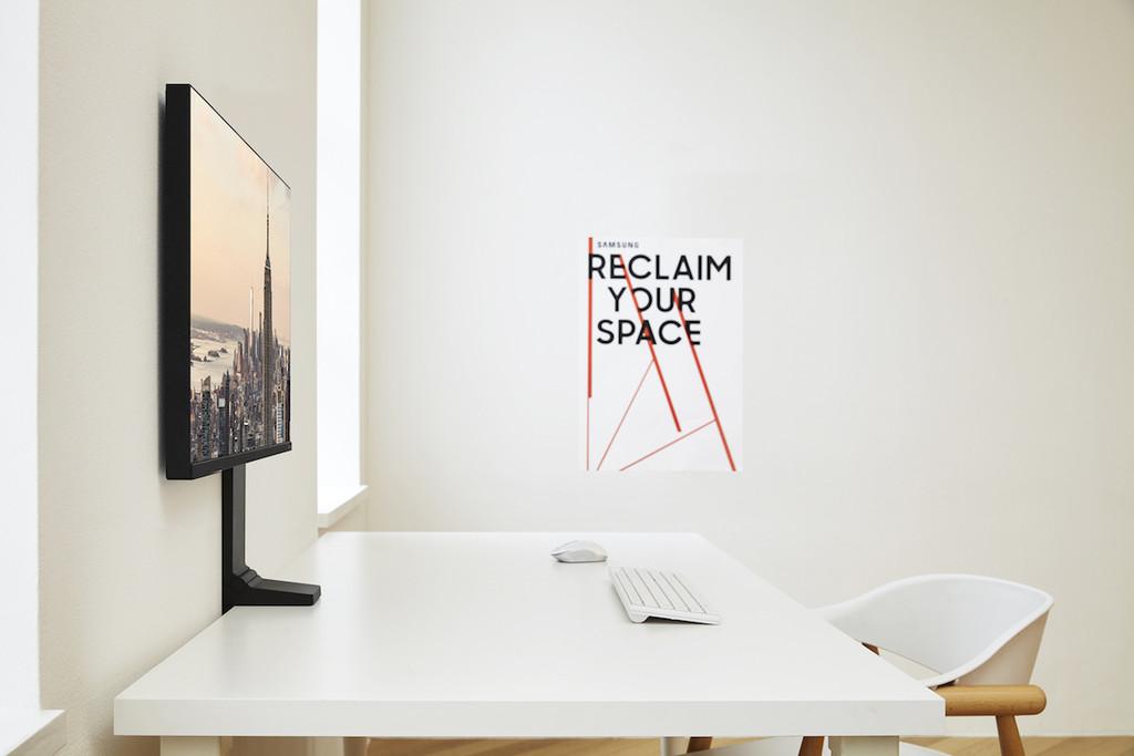 Samsung lleva al límite la idea de minimalismo y aprovechamiento del espacio con su nuevo e increíblemente versátil Space Monitor