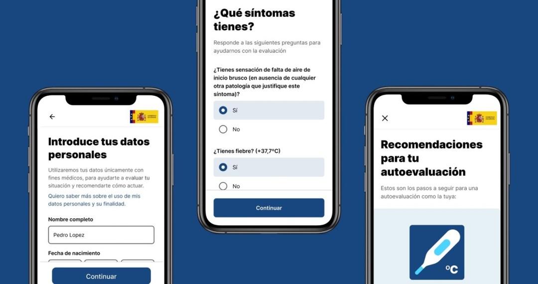 Aplicación del Gobierno de España AsistenciaCovid19