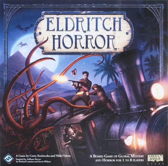 Portada del videojuego de mesa Eldritch Horror