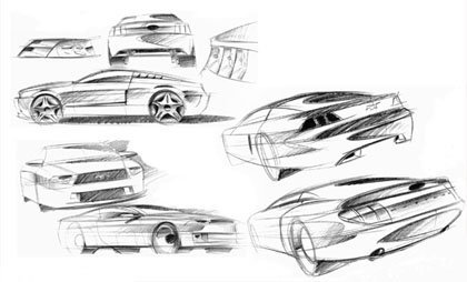 2005 Ford Mustang Sketches