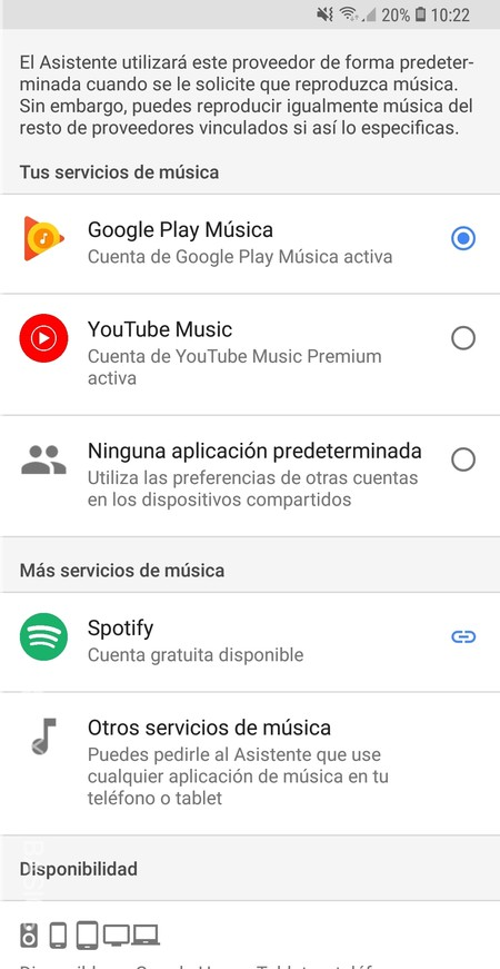 Google Home Musica