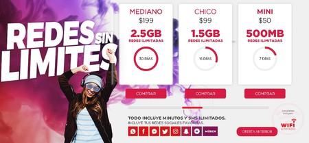 Virgin Mobile Mexico Paquetes Redes Sociales Ilimitadas