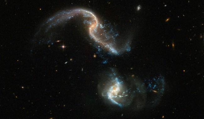 A Peculiar Galactic Clash