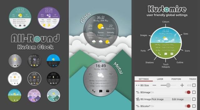 All Round Kustom Clock