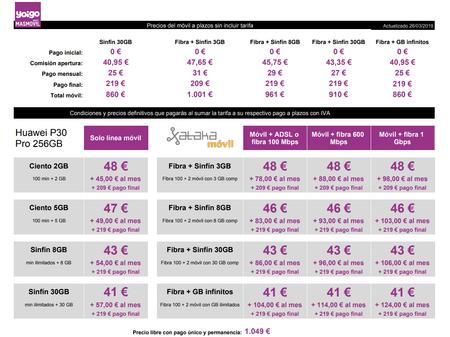 Precios Huawei® P30 Pro 256gb Con Pago A Plazos Y Tarifas Yoigo