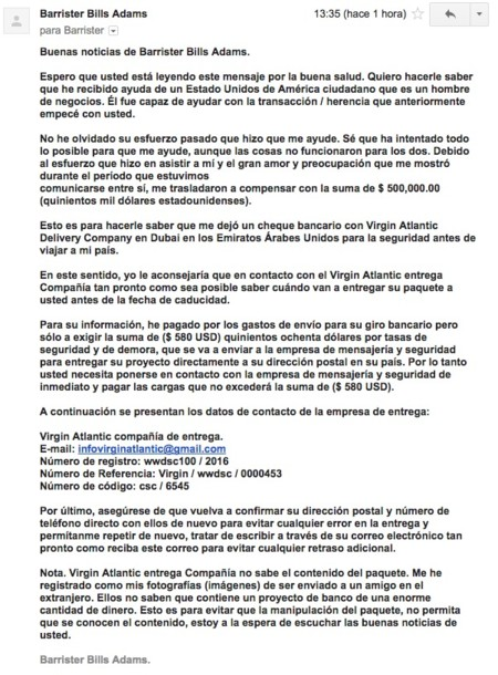 Correo Spam Barrister