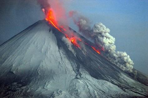 volcan nieve