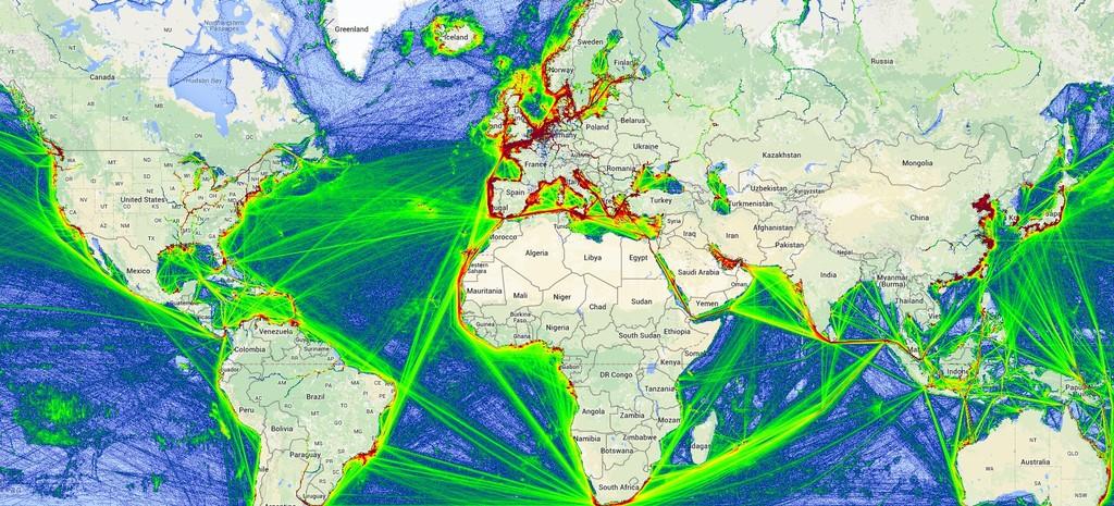 Permalink to Esta web te muestra el tráfico marítimo de todo el mundo en tiempo real