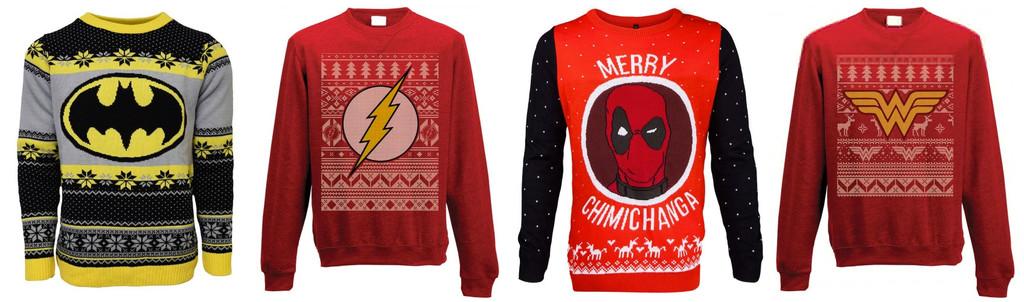 Jerseys navideños superhéroes
