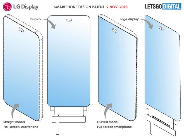 LG oculta la cámara interna en un agujero en la pantalla en su última patente