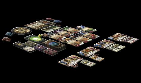 Componentes y disposición juego El Símbolo Arcano