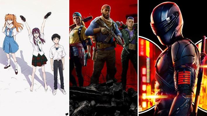 13 estrenos y lanzamientos imprescindibles para el fin de semana: 'Snake Eyes: El origen', 'Evangelion 3.0 + 1.0', 'Back 4 Blood' y mucho más