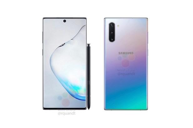 Las filtraciones del posible Samsung Galaxy Note 10 apuntan a tres cámaras traseras, pantalla perforada y marcos ínfimos