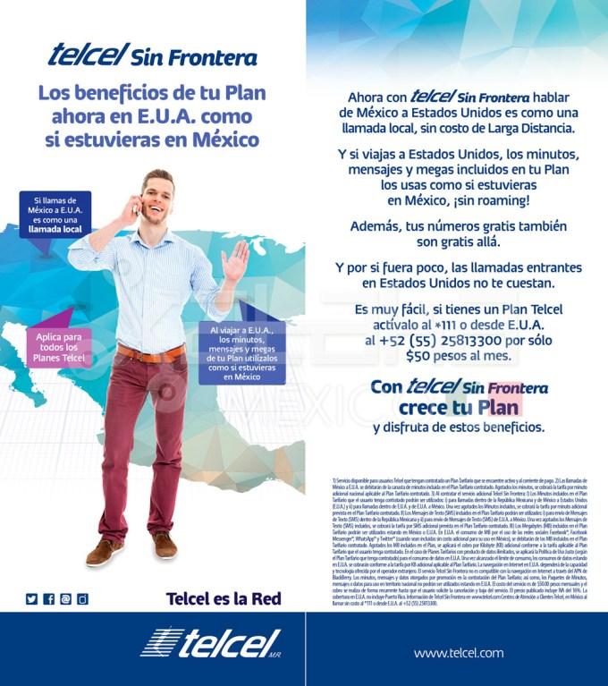 Folleto Telcel Sin Frontera