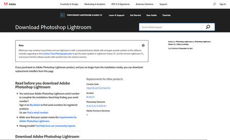 Adobe Lightroom 6.14. última actualización de la versión independiente. ya disponible