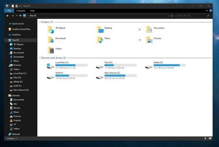 Dark File Explorer White Background