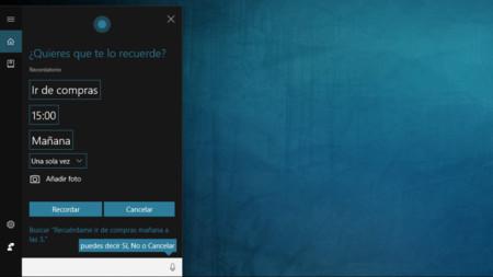 Recordatorios Cortana