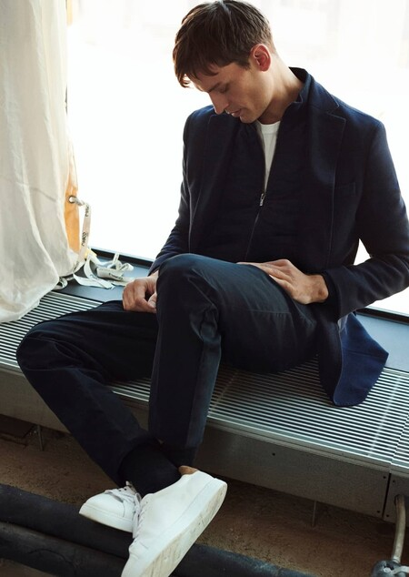 Azul Gris Massimo Dutti Hombre 2
