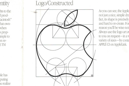 El manual de identidad de Apple en 1987, unas guías de