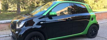 Probamos el smart forfour EQ, el coche eléctrico de cuatro plazas más barato del mercado