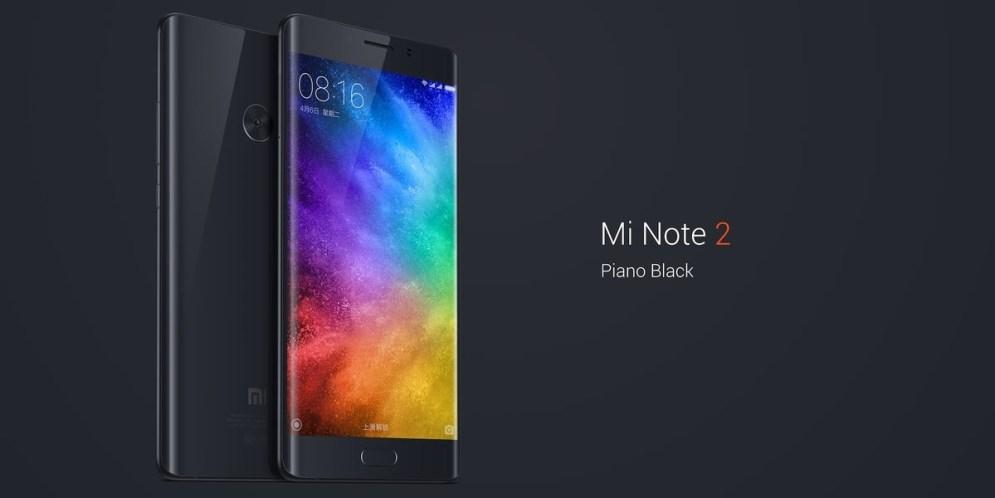 Xiaomi estrena el Mi Note 2: pantalla curva a precio imbatible