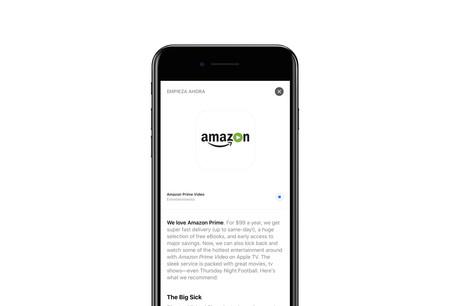 Amazon Prime Video para Apple TV ya se encuentra