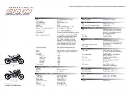 Especificaciones técnicas y galería de la MV Agusta