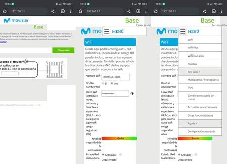 Konfigurieren Sie den Movistar Router