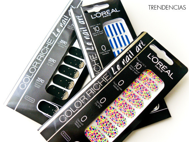 Luciendo Nail Art De Quita Y Pon Con Los Stickers Color Riche L Oréal Probamos