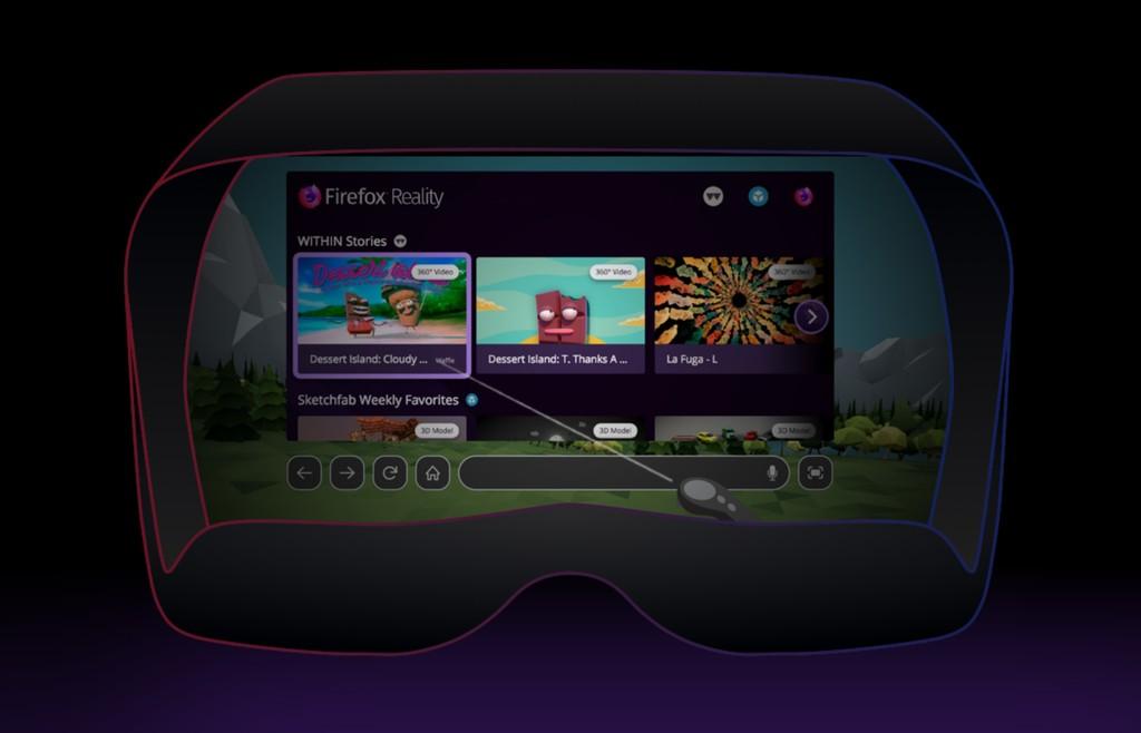 Firefox Reality es un browser diferente y pensado específicamente para tenerlo en realidad virtual