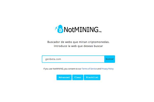 Notmining Org Buscador De Webs Que Minan Criptomonedas 2018 02 19 16 49 46