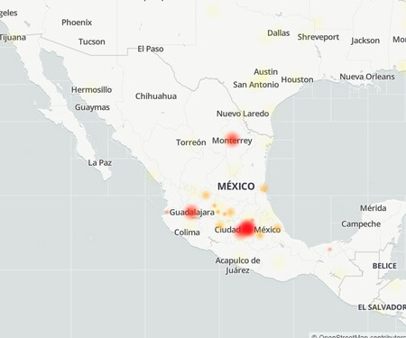 2021 05 17 20 36 49 Map Of Faults And Problems Notified Of Facebook Downdetector And 6 Pages Ma