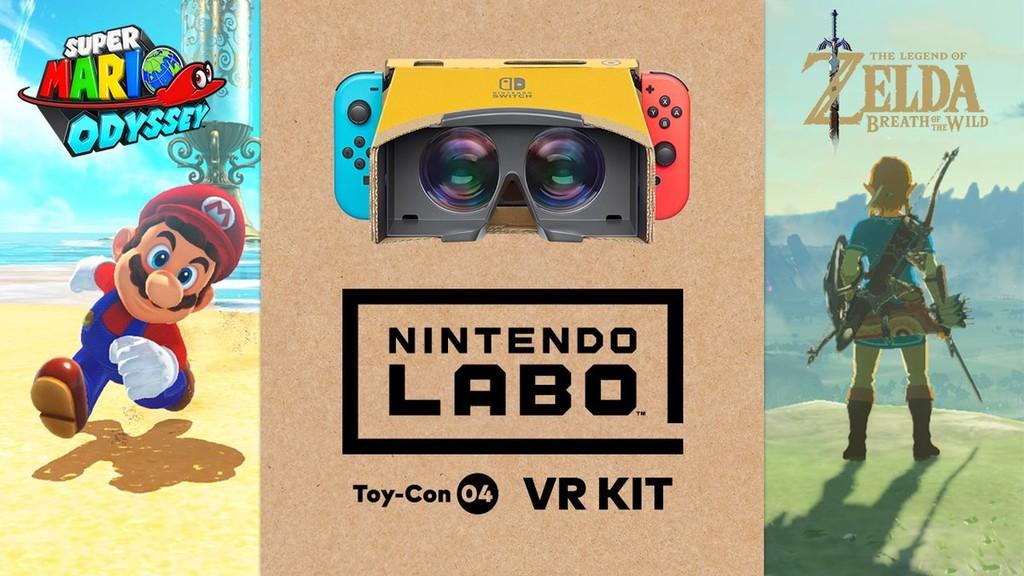 Permalink to 'Zelda: Breath of the Wild' y 'Super Mario Odyssey' se podrán jugar en realidad virtual con las nuevas gafas de Nintendo Labo