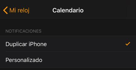 Notificaciones Calendario Apple Watch