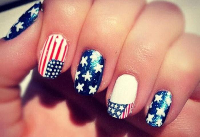 Usa Flag Nail Art Para Celebrar La Reelección De Barack Obama