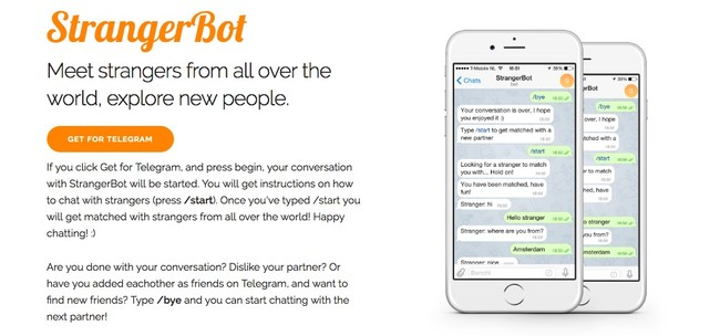 Strangerbot Chat With Strangers Through Telegram