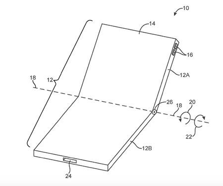 Patente de un iPhone plegable