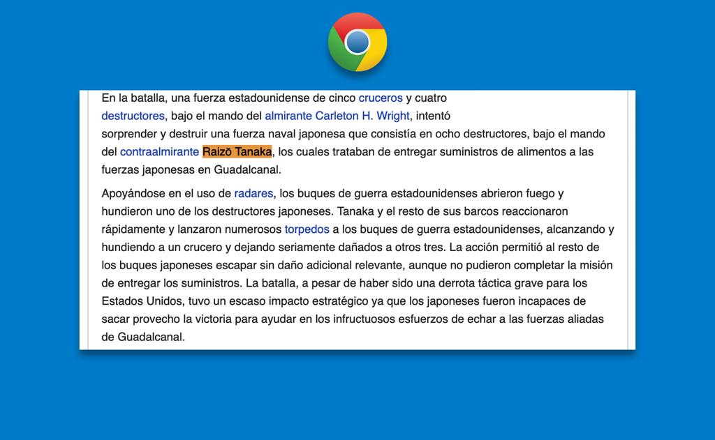 No te pierdas entre párrafos: Chrome permitirá enlazar a palabras o frases específicas dentro de una web