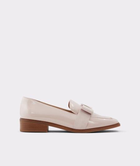 Aldo Women's Pink Square Toe Loafers 2