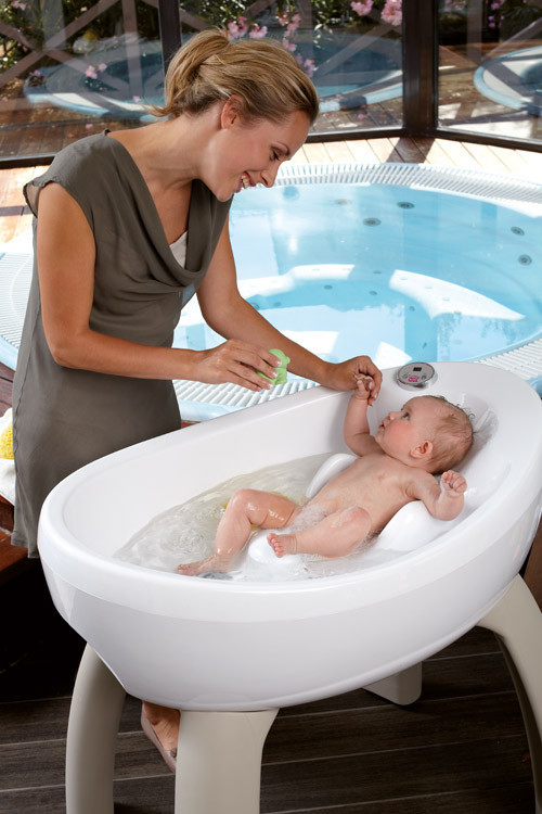 Baera con hidromasaje para tu beb